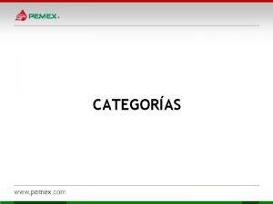 CATEGORAS Categoras desarrolladas 1 Ola Familia 1 Categoras