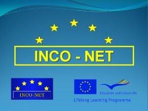 INCO NET LEONARDO DA VINCI Partnership Regional Shortage