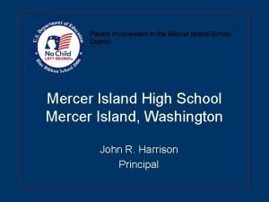 Parent Involvement in the Mercer Island School District