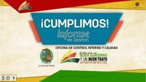 OFICINA DE CONTROL INTERNO Y CALIDAD OFICINA DE