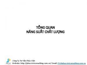 TNG QUAN NNG SUT CHT LNG Cng Ty