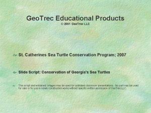 Geo Trec Educational Products 2001 Geo Trec LLC