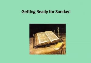 Getting Ready for Sunday Third Sunday in Ordinary
