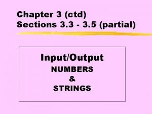 Chapter 3 ctd Sections 3 3 3 5
