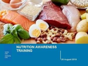 NUTRITION AWARENESS TRAINING WFP CXB 28 August 2019