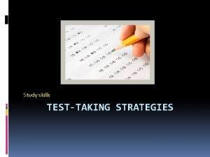 Study skills TESTTAKING STRATEGIES Multiple Choice Tests Weeding