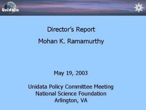 Directors Report Directors Status Report Mohan K Ramamurthy