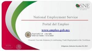 National Employment Service Portal del Empleo www empleo