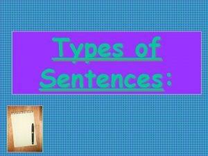 Types of Sentences How many types of sentences