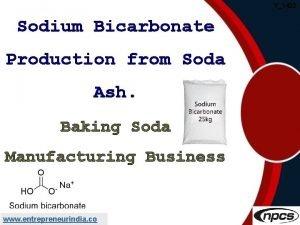 Y1422 Sodium Bicarbonate Production from Soda Ash Baking