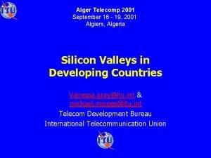Alger Telecomp 2001 September 16 19 2001 Algiers