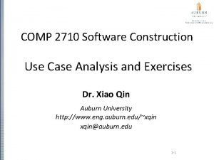 COMP 2710 Software Construction Use Case Analysis and