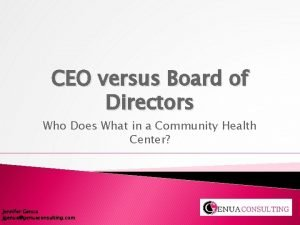 CEO versus Board of Directors Who Does What
