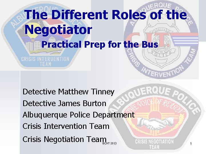 The Different Roles of the Negotiator Practical Prep