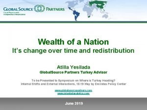 Wealth of a Nation Its change over time