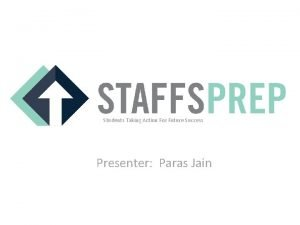 Students Taking Action For Future Success Presenter Paras