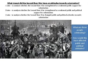 What impact did the Second Boer War have