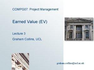 COMPG 07 Project Management Earned Value EV Lecture