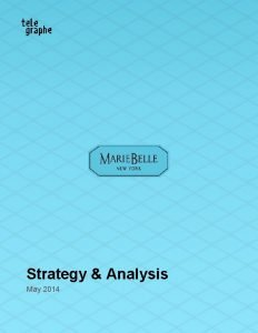 Strategy Analysis May 2014 Strategy Analysis Table of