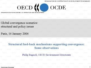ORGANISATION DE COOPRATION ET DE DEVELOPMENT CONOMIQUES ORGANISATION