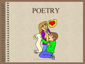 POETRY What is poetry Poetry A piece of