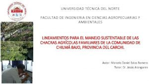 UNIVERSIDAD TCNICA DEL NORTE FACULTAD DE INGENIERIA EN