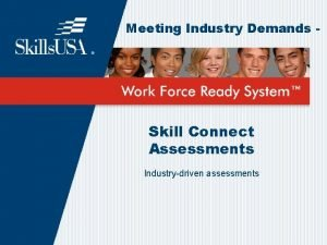 Meeting Industry Demands Skill Connect Assessments Industrydriven assessments