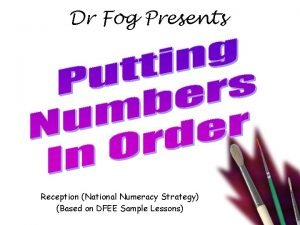 Dr Fog Presents Reception National Numeracy Strategy Based