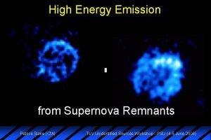High Energy Emission from Supernova Remnants Patrick Slane
