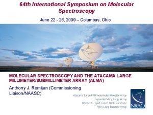 64 th International Symposium on Molecular Spectroscopy June