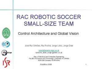 RAC ROBOTIC SOCCER SMALLSIZE TEAM Control Architecture and