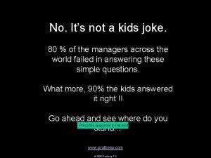 No Its not a kids joke 80 of