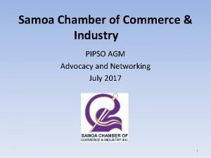 Samoa Chamber of Commerce Industry PIPSO AGM Advocacy