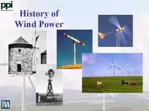 History of Wind Power Large Wind Systems Range