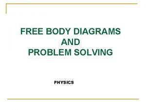 FREE BODY DIAGRAMS AND PROBLEM SOLVING PHYSICS Free