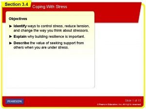 Section 3 4 Coping With Stress Objectives Identify