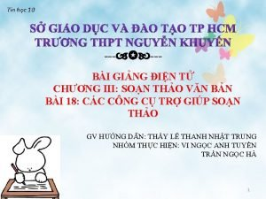 Tin hc 10 BI GING IN T CHNG