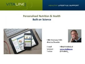 Personalised Nutrition Health Built on Science Hille Meetsma