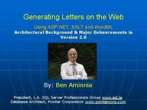 Generating Letters on the Web Using ASP NET
