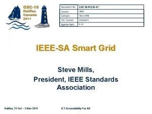 Document No GSC 16 PLEN47 Source IEEE Contact