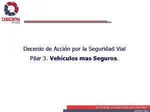 Decenio de Accin por la Seguridad Vial Pilar