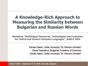 A KnowledgeRich Approach to Measuring the Similarity between