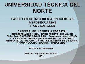 UNIVERSIDAD TCNICA DEL NORTE FACULTAD DE INGENIERA EN