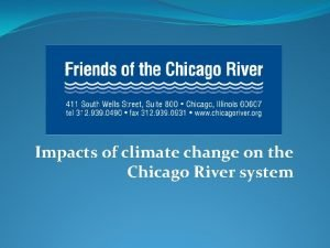 Impacts of climate change on the Chicago River