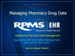 Managing Pharmacy Drug Data Optimizing Pharmacy Data Management