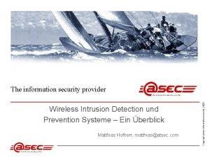 Wireless Intrusion Detection und Prevention Systeme Ein berblick