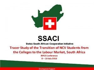 Swiss South African Cooperation Initiative Tracer Study of