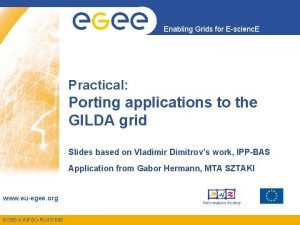 Enabling Grids for Escienc E Practical Porting applications