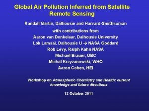 Global Air Pollution Inferred from Satellite Remote Sensing