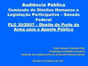 Audincia Pblica Comisso de Direitos Humanos e Legislao